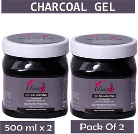 I TOUCH HERBAL CHARCOAL GEL 500 ML X 2 ( PACK OF 2)