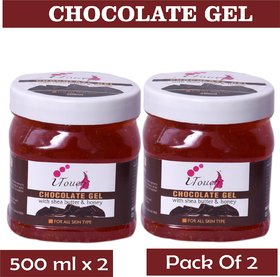 I TOUCH HERBAL CHOCOLATE GEL 500 ML X 2 ( PACK OF 2)