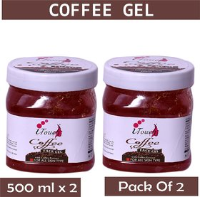 I TOUCH HERBAL COFFEE GEL 500 ML X 2 ( PACK OF 2)