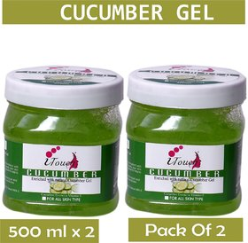 I TOUCH HERBAL CUCUMBER GEL 500 ML X 2 ( PACK OF 2)