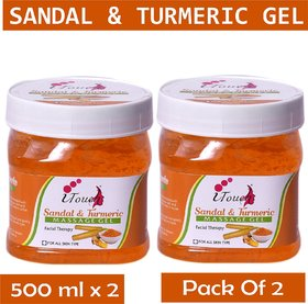 I TOUCH HERBAL SANDAL & TURMERIC GEL 500 ML X 2 ( PACK OF 2)