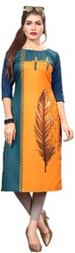 New Ethnic 4 You Women's Digital Print Crepe Kurti (Kurta179-Small)