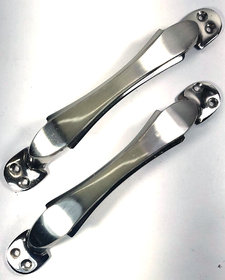 Home Decor Brass Chrome Plated Door/Cabinet Handle (Set of 2) Size175 mm Model077