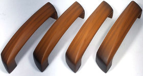 Home Decor Wood Finish(C.I) Cabinet Handles Colour Teak Wood Size 125mm(Pack of 4 Pieces)