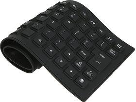Crystal Digital ortable Flexible Silicone Foldable Waterproof Keyboard