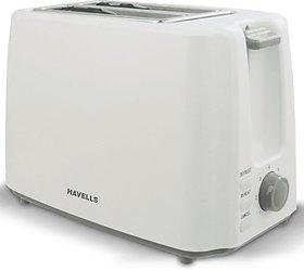Havells Crisp 2 Slice, 700W Pop-Up Toaster - White