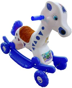 OH BABY'' BABY PLASTIC HORSE WITH ROCKING FUNCTION AND RUNNING RIDE ON  WITH AMAZING COLOR FOR YOUR KIDS First Class Roc