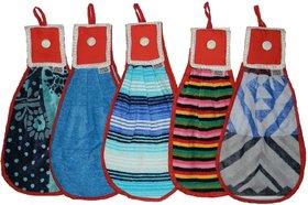 Cotton Kitchen hanging towels, Set of 5 pcs Multicolour DOUBLE SIDED