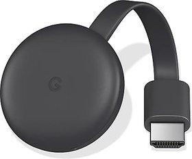 Google Chromecast 3 Media Streaming Device  (Black)  (OPEN BOX)