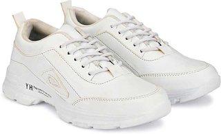 Aaiken Men's White Outdoors Lace-up Casual Shoes