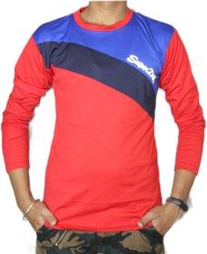 VANTAR Red Printed T-Shirt