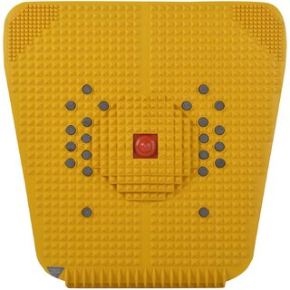 NITLOK Acupressure Mat for Feet With Magnets and Pyramid Foot Acupunture Pad Accupressure Tool - Yellow (30x30cm)