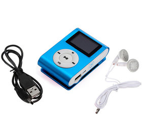 Kss Unique Mini Clip Music Mp3 Player Support 8Gb Tf Card With Earphone- Multi -Color