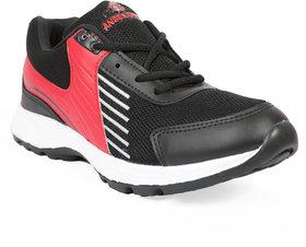 Jaisco Men's Sport Black and Red Running Shoes Sneakers For Men