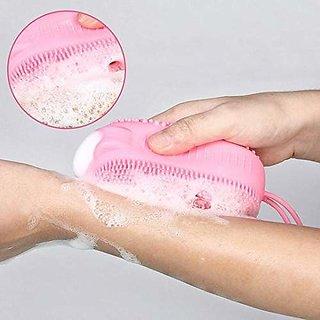 Eastern Club Bath Body Brush Silicone body scrubber Soft Bath Body Brush Pack of-1 (Multicolor)