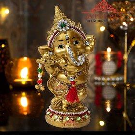Ganesha Idol Showpiece for Home  Office Decor, Best Wedding House Warming Gift Under 500 ( Ganesha )