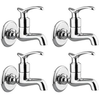 Drizzle Duck Bib Cock Short Body Brass, Bathroom Tap, Quarter Turn (Pack of 4 Pieces)