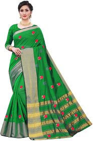 Woman's COTTON Silk EMBROIDERD Saree with blouse(5342)
