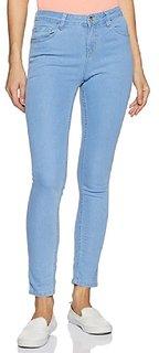 Women Ice Blue Silky Denim Jeans