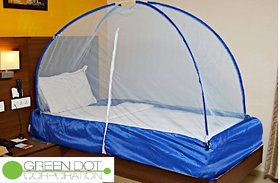 Greendot Mosquito Net for home and outdoor Foldable (Multicolour) (Size-Single Bed) - 3x6