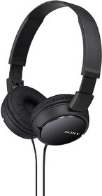 SONY MDR-ZX110 Stereo Headphones Wired without Mic Headset  (Black, On the Ear)