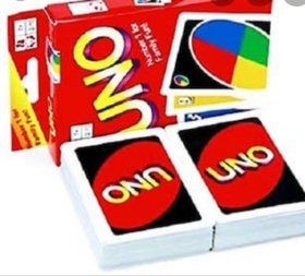 Universal  Uno Card Game 2 Pack Of Cards Multi-Colors