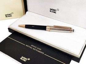 Mont  Meisterstuck Doue Geometry Classique Ballpoint blanc Pen With Copper Trims
