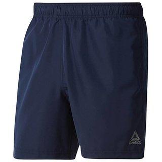 Reebok Navy Polyester Lycra Shorts For Men's