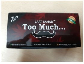 LAAT SAHAB Rolling Paper King Size Awesome Threesome White Smoking Paper (Pack of 50)