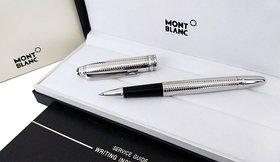 Mont Meisterstuck Solitaire Silver Barley Rollerball blanc Pen