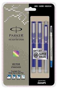Parker Vector Ball Pen Fountain Pen Roller Pen Set
