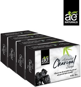 AE Naturals Activated Charcoal soap  pack of 4