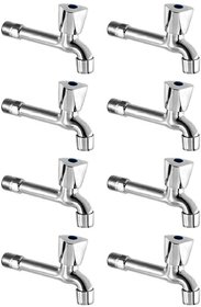 Drizzle AcuraMini Long Body Bib Cock Bathroom Tap With Quarter Turn Foam Flow (Pack of 8 Pieces)