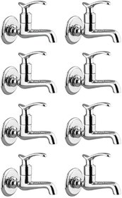 Drizzle Duck Long Body Bib Cock Brass, Bathroom Tap With Quarter Turn (Pack of 8 Pieces)