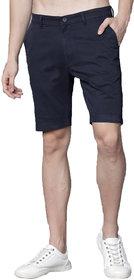 EditLook Men's Slim Fit Black Denim Shorts
