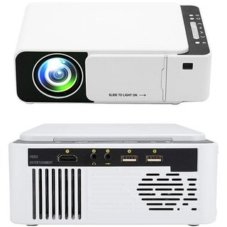 T5 New Upgraded Smart Projector 3D Full HD 4K WiFi miracast 3200 Lumens Home Cinema Theater Mini Projector 1080P (White)