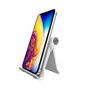 Portronics Modesk 200 POR-1203 Universal Mobile Phone Stand For Mobile, Tablet & Ipad (Size Upto 7 inch) (White)