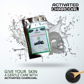 Amishi 100 Natural Activated Charcoal for Ideal Skin Removes Dead Skin,Impurities,Detoxifies Skin ,500gm
