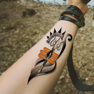 Trishul with Eye Tribal Tattoo Temporary Body Waterproof Boy and Girl Tattoo VT06