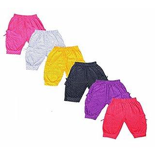 Ezee Sleeves Unisex Cotton Kids Shorts/Regular Fit Boys/Girls Kids Combo Shorts (Multicolor) - Pack of 6