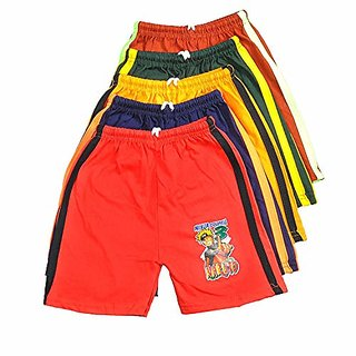 Ezee Sleeves Kids Cotton Shorts Combo/Shorts for Boys and Girls - Pack of 5