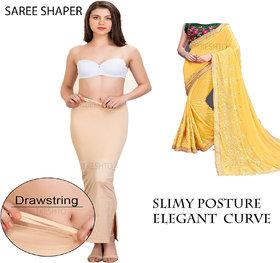 Tkeshto Women's Cotton Saree Shapewear