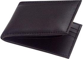 Unique Collections Black Genuine Leather Wallet For Men (Spr-01)