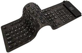 Crystal Digital  Flexible Soft Roll up Waterproof Portable Wireless Keyboard