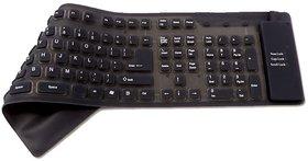 Crystal Digital Bluetooth Multi-device Keyboard  (Black)