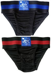 R K SPORTS Cricket Gym Supporter Back Covered Sports Underwear athletic sports Pack of 2 PEC Abdomen Support  (Black)
