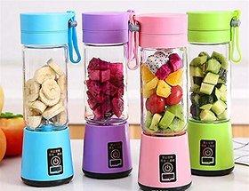 Mini USB Juicer Bottle Mixer Grinder for Making Juice, Shake, Smoothies, Juicers for Fruits and Vegetables (Multicolour)