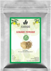 Amishi 100 Organic Gokharu Powder, 100gm
