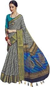 Triveni Multicolor Cotton linen Festive Wear Printed Saree
