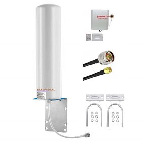 GraspaDeal Cylindrical + Panel Antenna Use with Mobile Signal Booster, POS, Fixed  Dongle, Router with 10 Mtr Cable